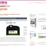 Mobile Web Slinger Website on PlumbWebSlinger.com
