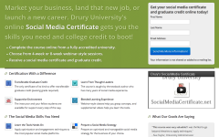 Social Media Certificate Landing Page