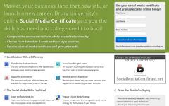Social Media Certificate Landing Page