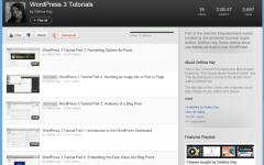 YouTube WordPress Playlist